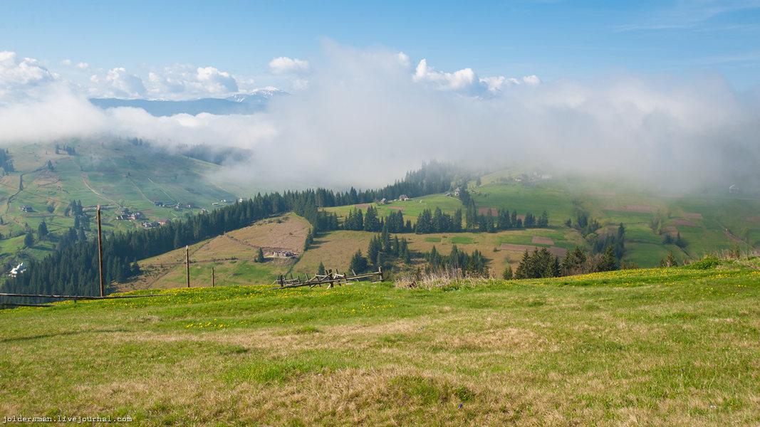 карпатский горный пейзаж