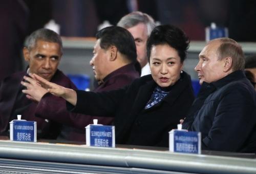 Обама, Си Цзиньпин, Пэн Лиюань, Путин