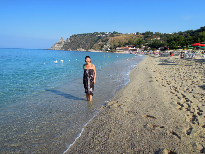Пляж Гротичелле в Капо-Ватикано