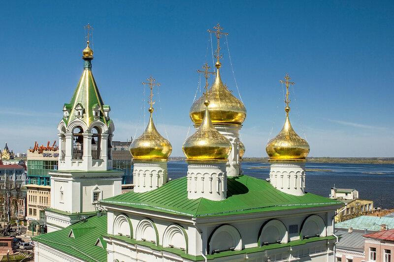 Золотыми куполами в высь небесную....