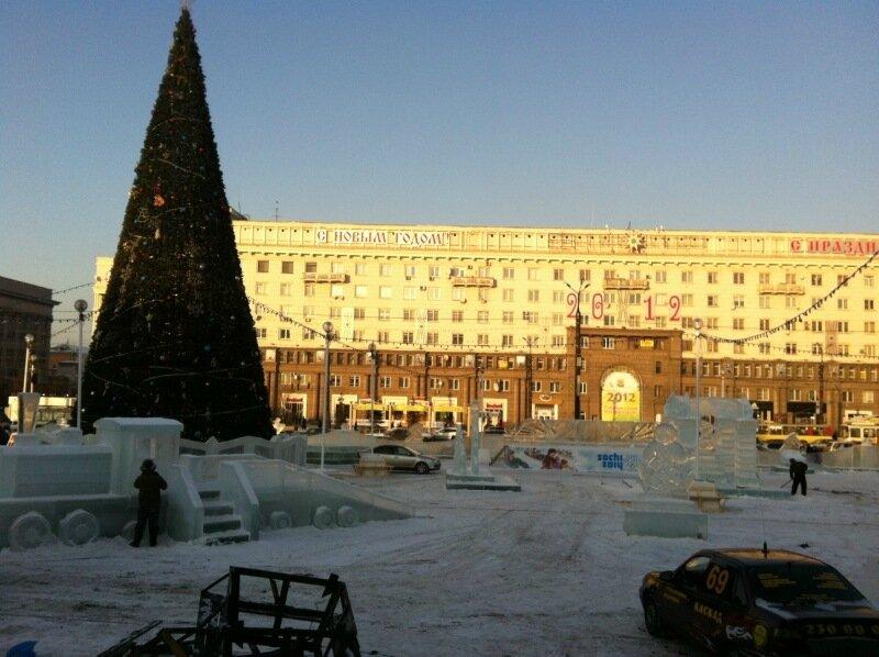 Площадь Революции. Ледяной городок