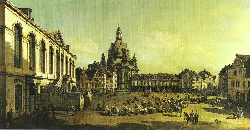 Новая Рыночная площадь (Neuer Marktplatz), 1747 год