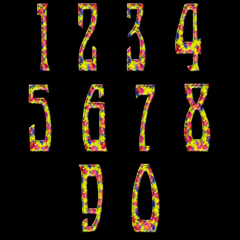 Цифры от0 до9
