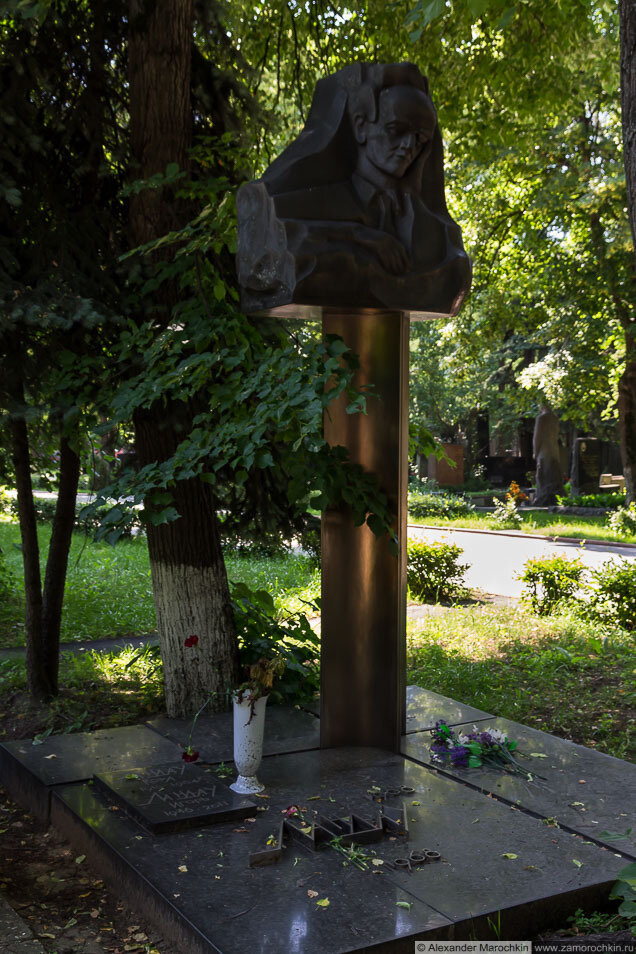Могила Льва Давидовича Ландау на Новодевичьем кладбище