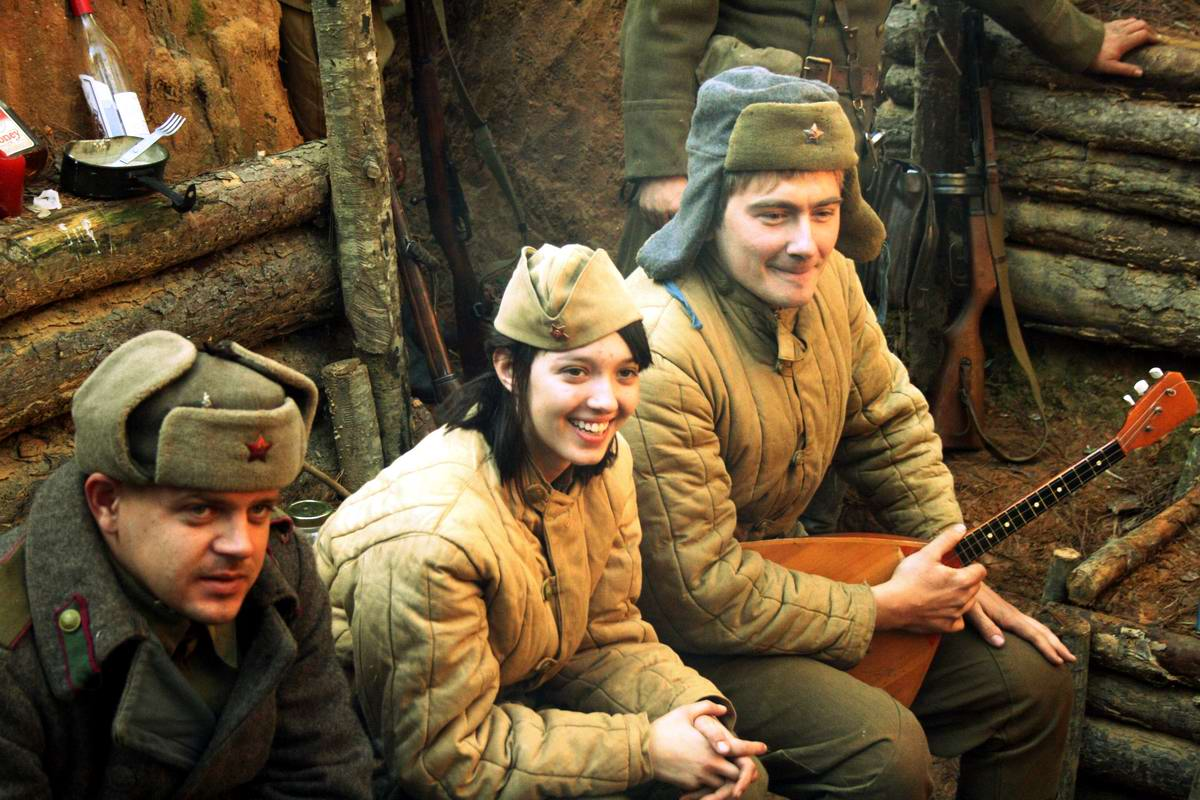 Солдаты Советской Армии в британских реконструкциях сражений 2-й мировой войны (1)