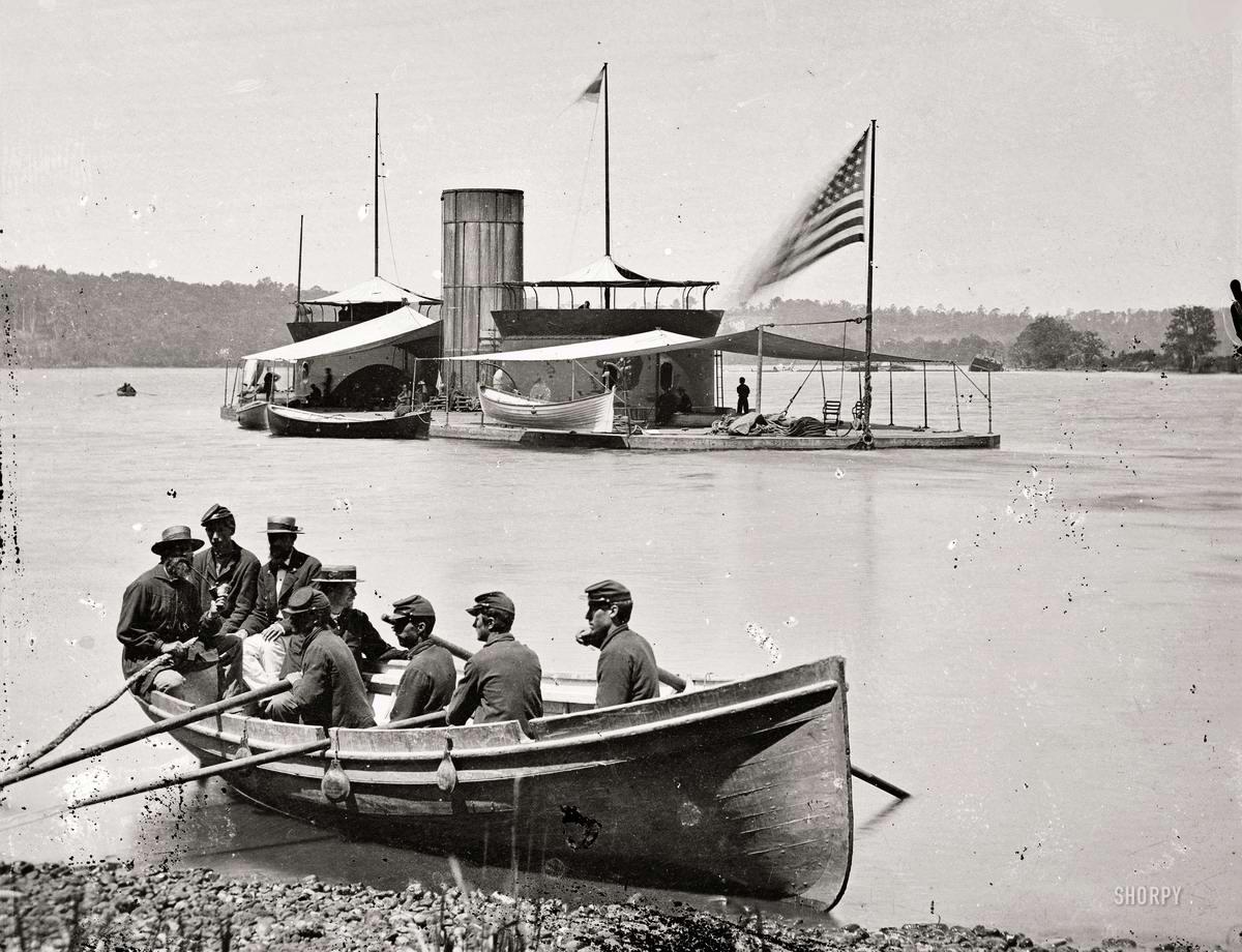 Корабли, речные суда и военные моряки на снимках американских фотографов конца 19 века (5)