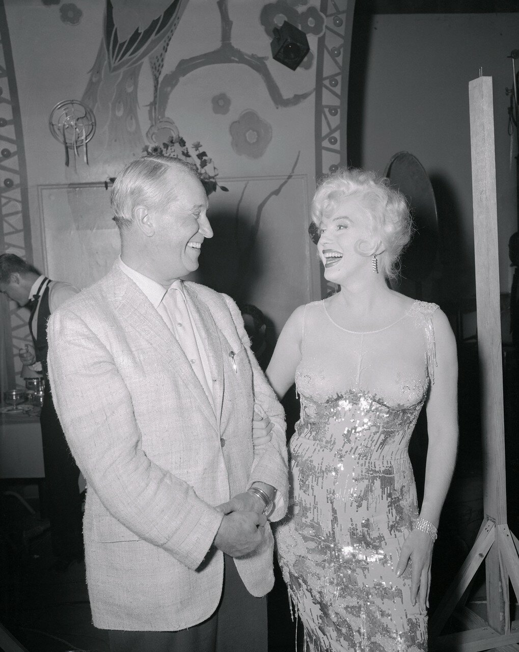 Marilyn Monroe and Maurice Chevalier