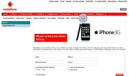 iPhone 3G в Чехии