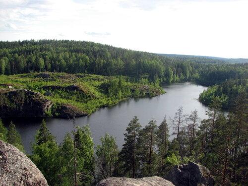 Озеро сверху