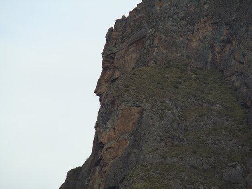 сама природа изваяла профиль великого Инки на скале