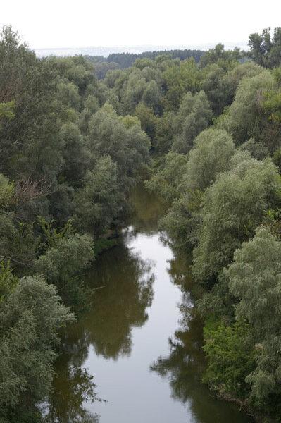 Вид на реку с ж/д моста