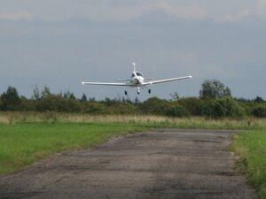 Посадка самолёта «Tecnam» на аэродроме Борки Новгородской области
