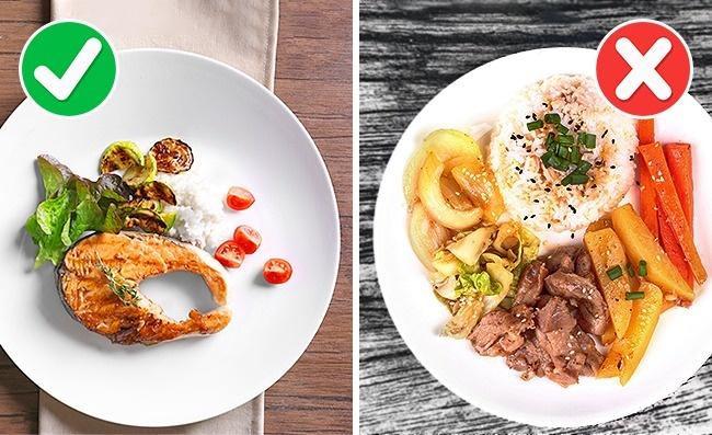 © depositphotos  © depositphotos  Старайтесь, чтобы ввашей тарелке было 2вида еды: мяс