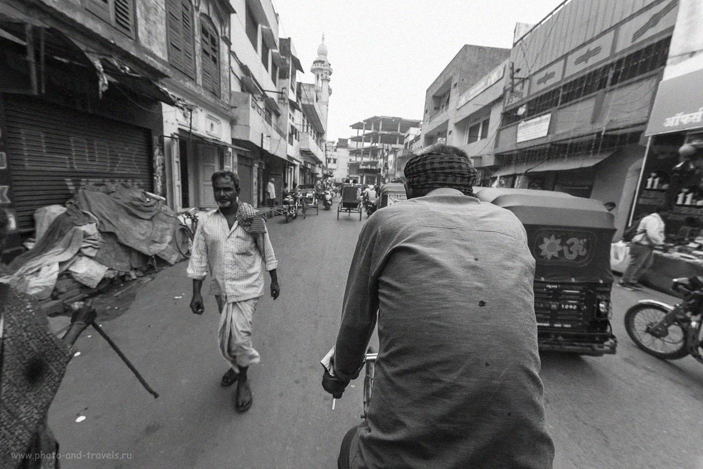 Фотография 27. В нескольких городах Индии нашим транспортом был велорикша. Недорого, но медленно… Зато колоритно. 1/160, 8.0, 2500, 14.