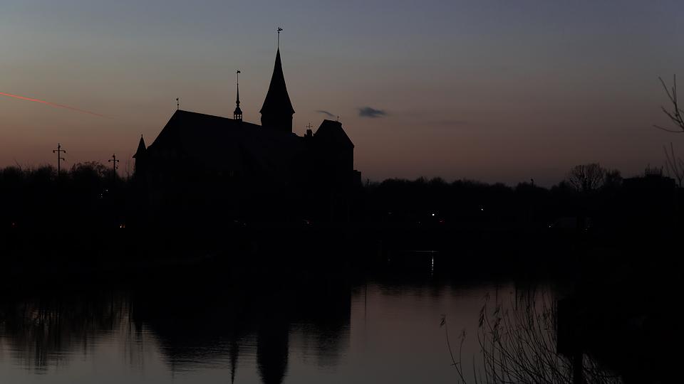 Калининградский собор вечером