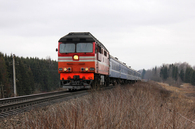 ТЭП70-0359 на перегоне Новосокольники - Шубино
