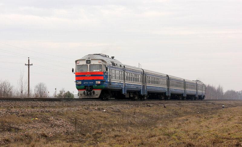 ДР1А-309 на перегоне Пруды - Молодечно