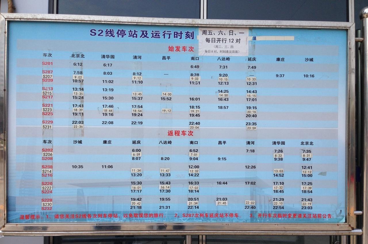 Расписание поездов S2