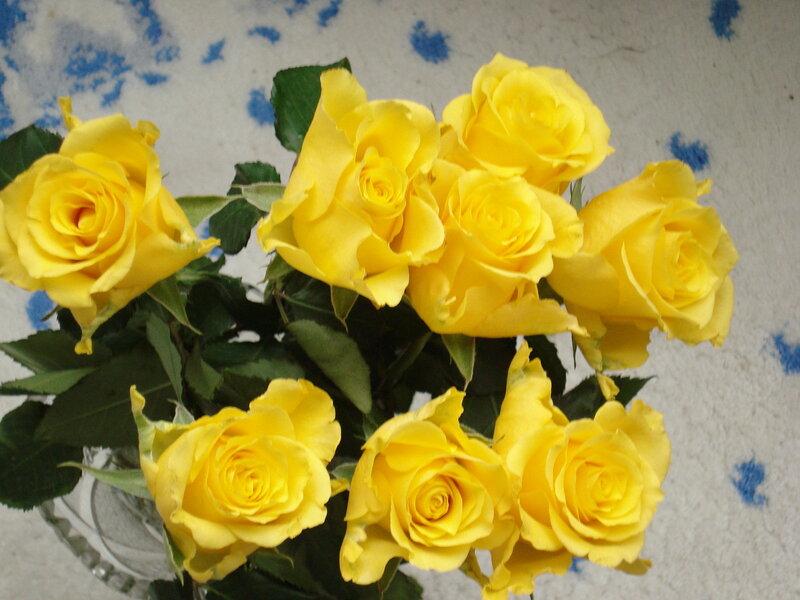Букет жёлтых роз.