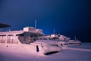Зимняя спячка , Чебоксары, город, ночь, зима, мороз
