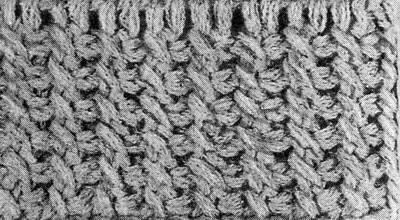 Тунисское вязание. Скрещенные петли