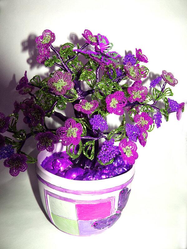 """Творческий проект  """"Цветок из бисера """" Выполнила ученица 7 класса мбоу сош 1 Сибиряк Анны."""