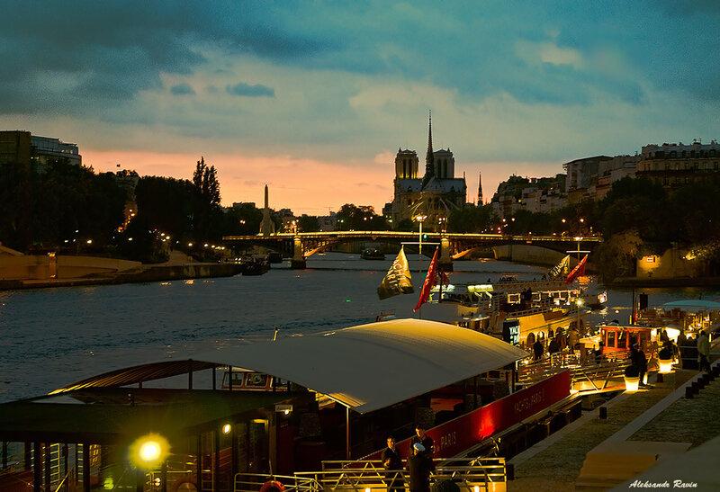 Осенний вечер на Сене