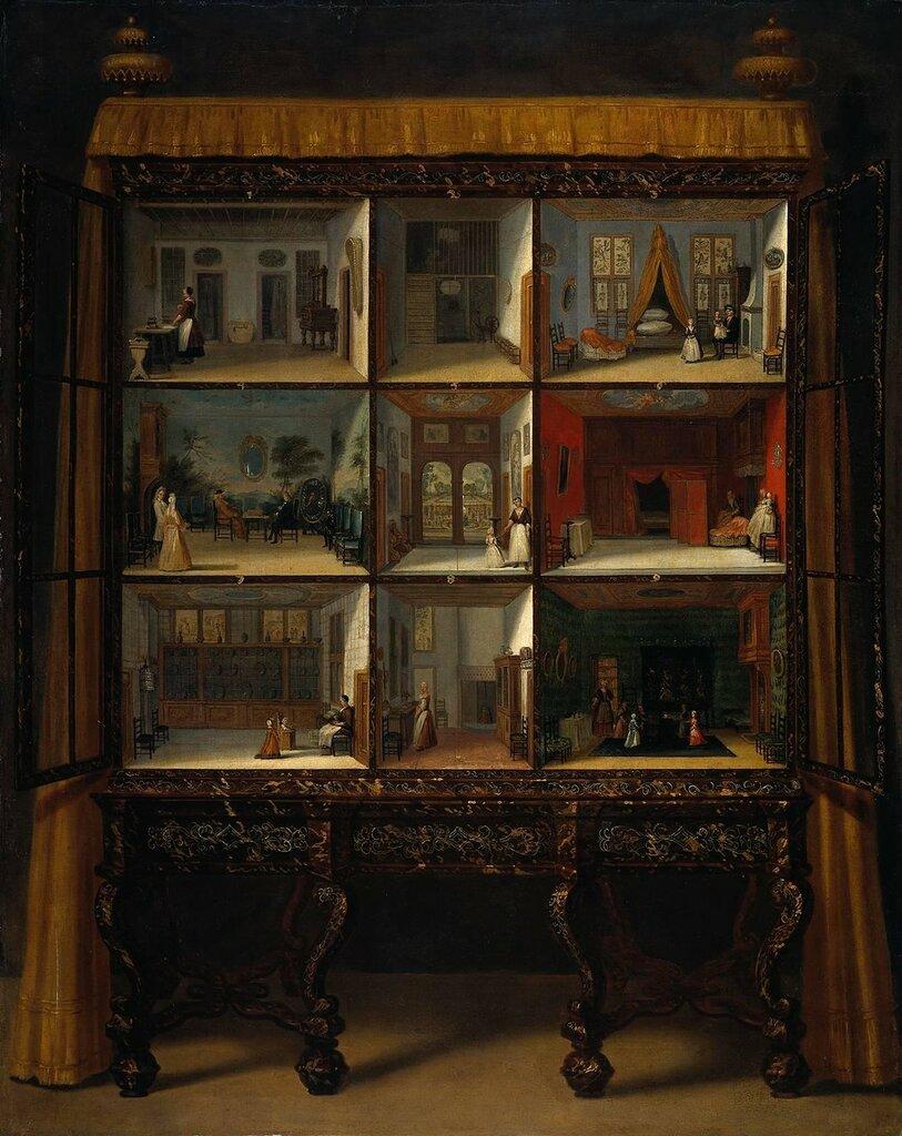 Dolls' House of Petronella Oortman, c.1710 by Jacob Appel (I) (Dutch, 1680–1751)-Кукольный домик