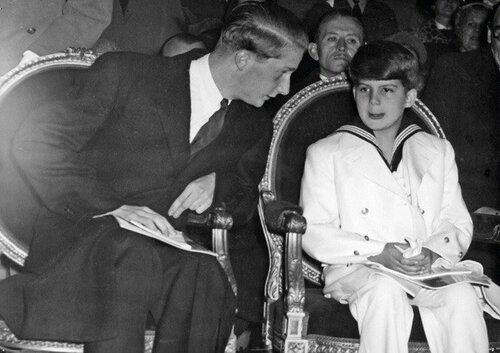 Alexandre et Albert de Belgique. 1952