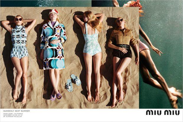 Elle Fanning, Karen Elson, Lara Stone + More for Miu Miu SS17 Campaign (6 pics)