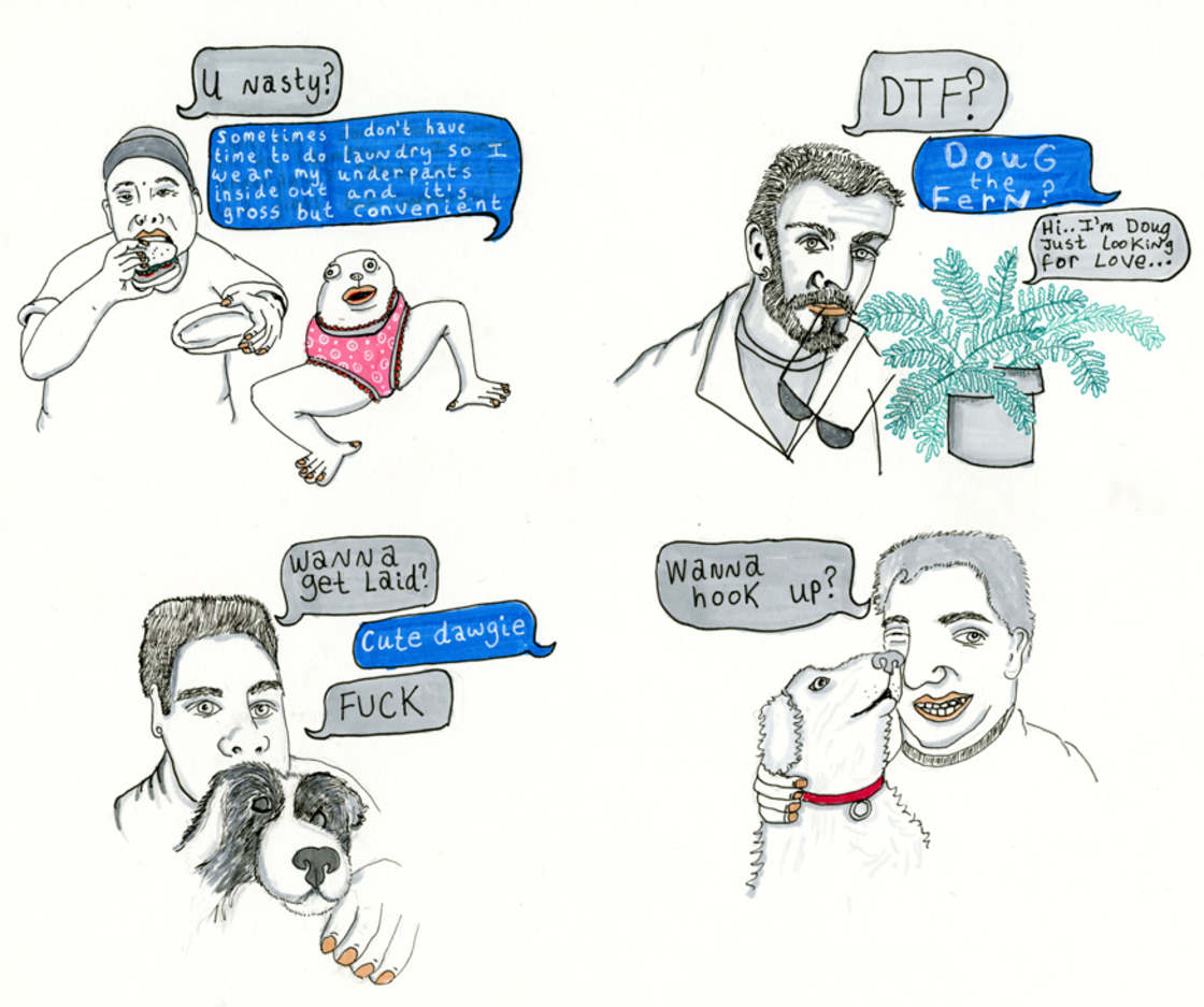 Tinder Nightmares - She illustrates her worst Tinder conversations