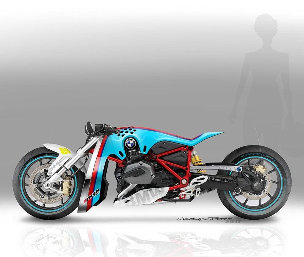 Николас Пети: концепт драгбайка BMW R1200R