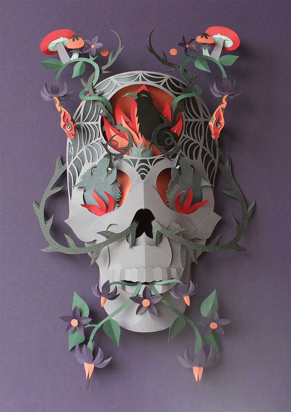 Intricate Layered Paper Scenes by Helen Musselwhite
