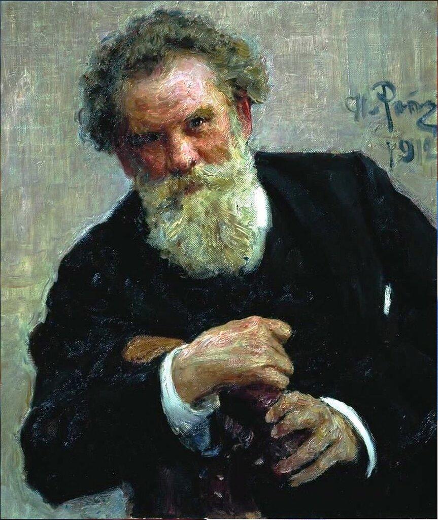 Портрет писателя В.Г.Короленко. 1912. Русский художник Илья Ефимович Репин.jpg