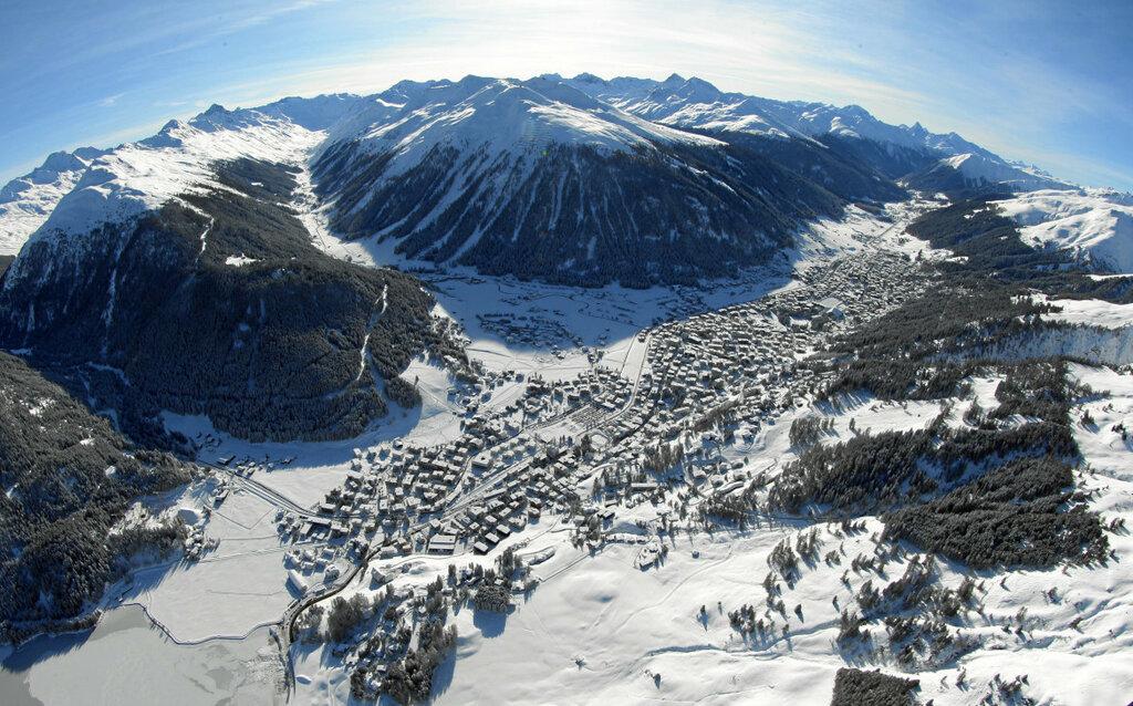 World Economic Forum 2012: Aerial photo from Davos