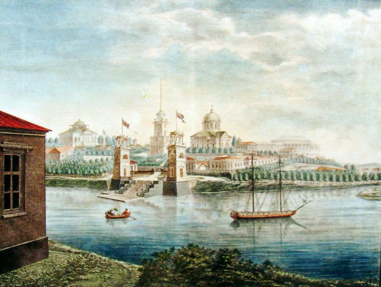 1. Общий вид Села Грузина с приезда от Санкт-Петербурга 1822 г. Рисовал на камне Г. Каношенкин