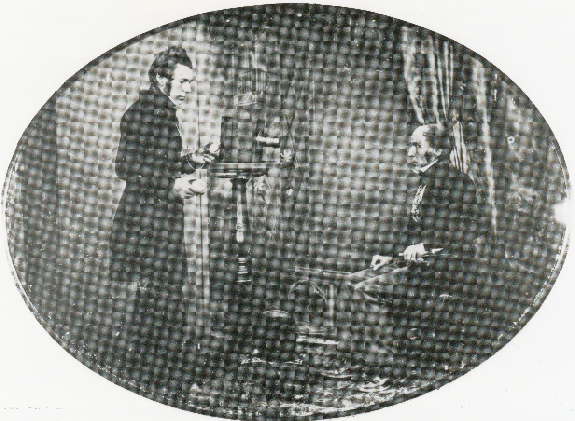 1843. Создание портрет в студии Ричарда Бирда