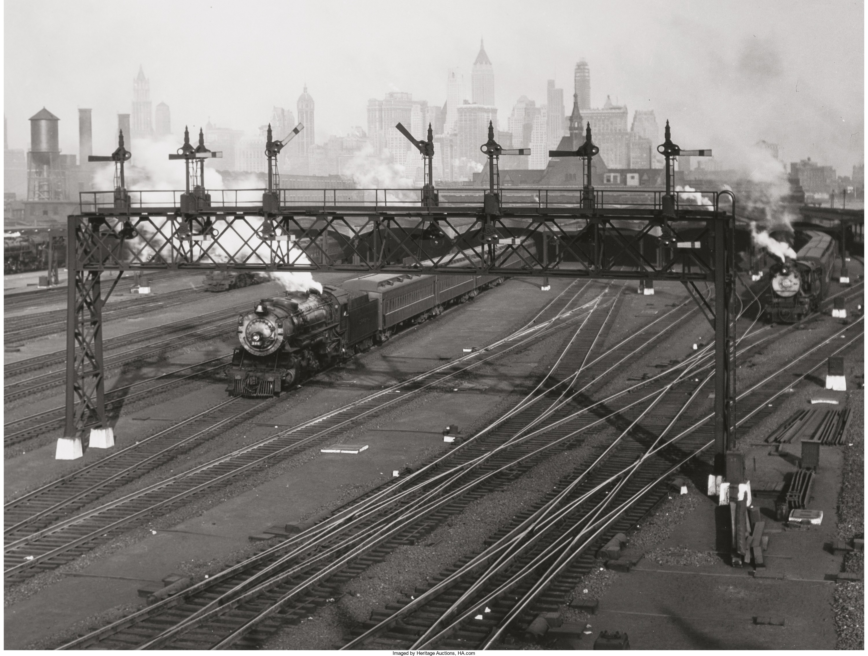 1935. Железнодорожные пути на Манхэттене