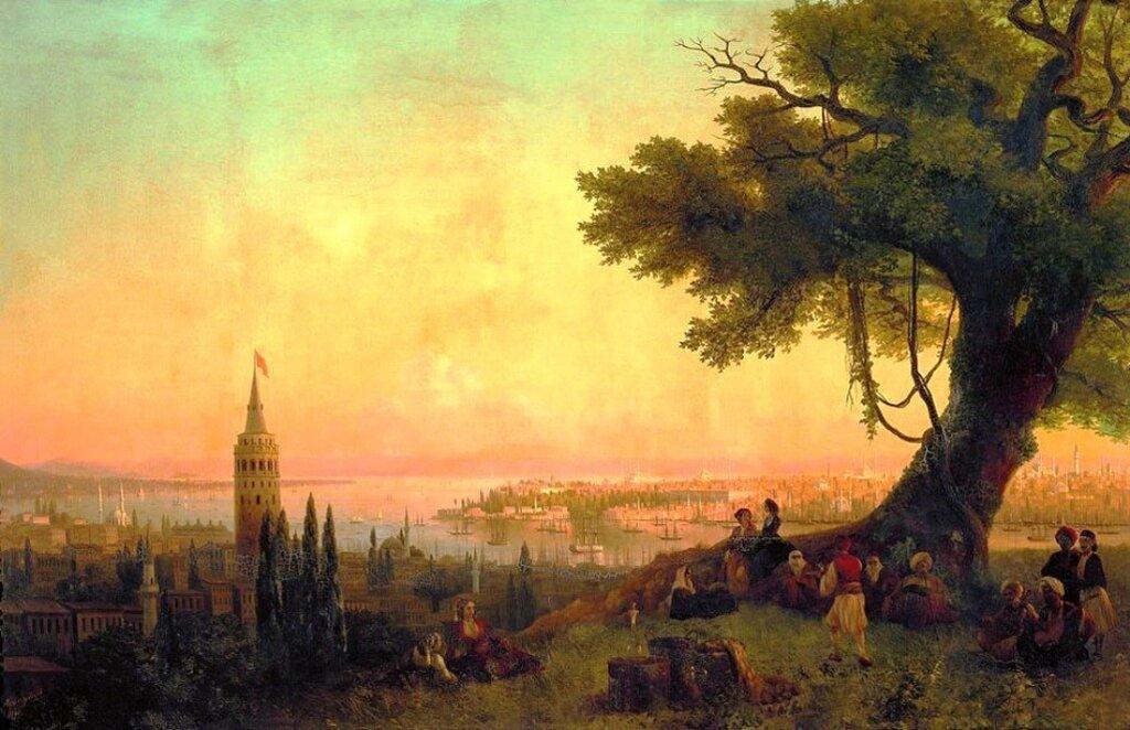 Вид Константинополя при вечернем освещении, 1846 год