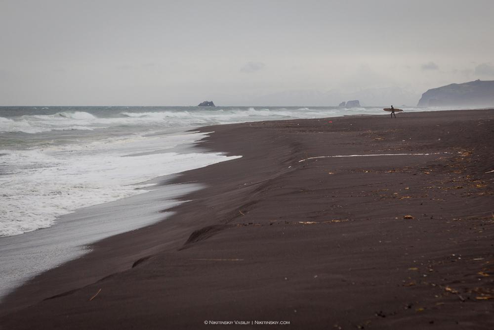 Камчатка. Черный пляж
