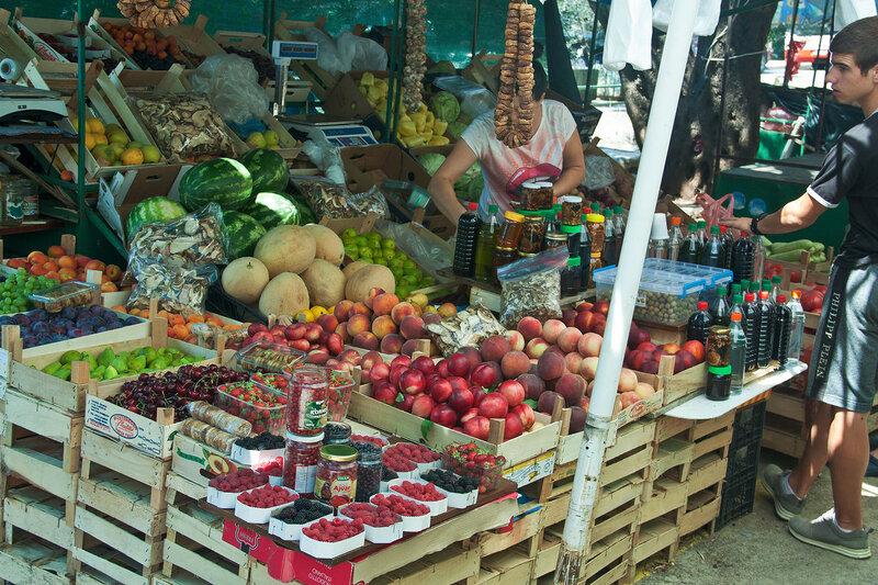 рынок в Петроваце, Черногория