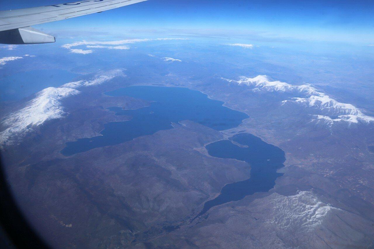 Озера Охрид, Преспан и Микри-Преспа, вид с самолёта