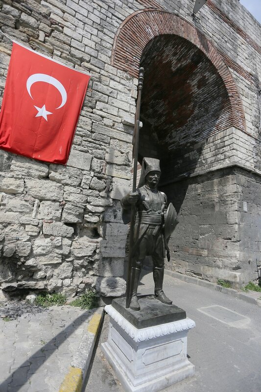 Стамбул. Ворота Святого Романа или Пятые военные ворота или (Beşinci Askeri Kapı)