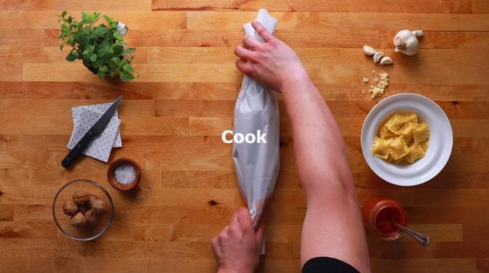 Отправляете в духовку.