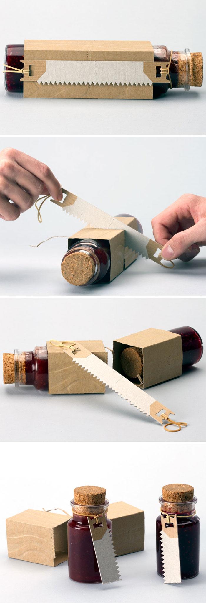 Вот такая нескучная упаковка для баночек с джемом.