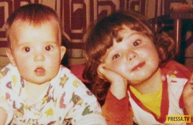 На фото Джорджина (справа) вместе с младшей сестрой.