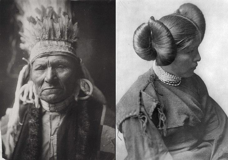 Слева— представитель племени индейцев Мохаве, проживающих в настоящее время в двух резервациях