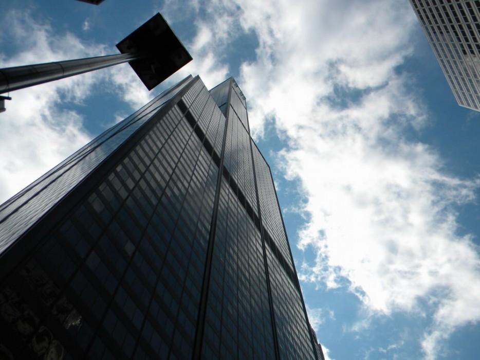 8. Стеклянные кубики на небоскребе Уиллис (Сирс) Тауэр, Чикаго