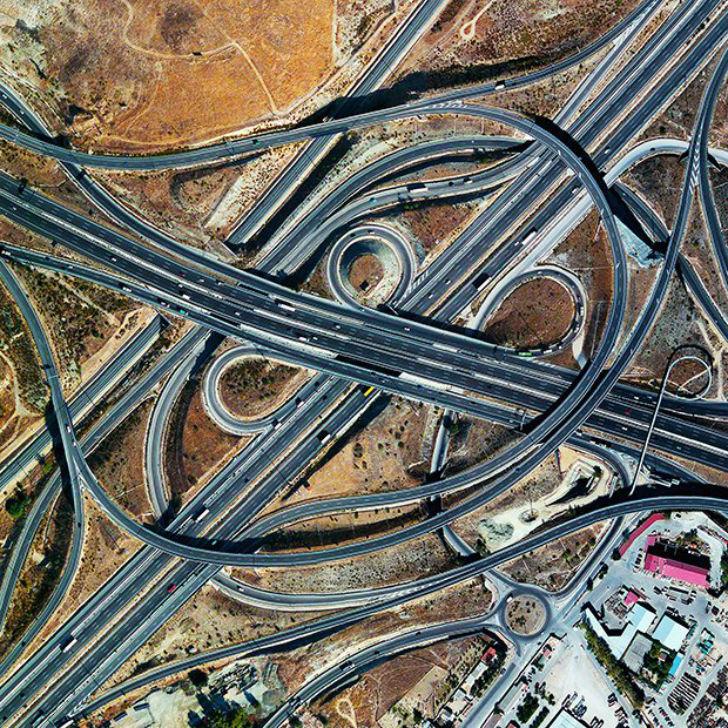 Развязка шоссе, Мадрид, Испания.