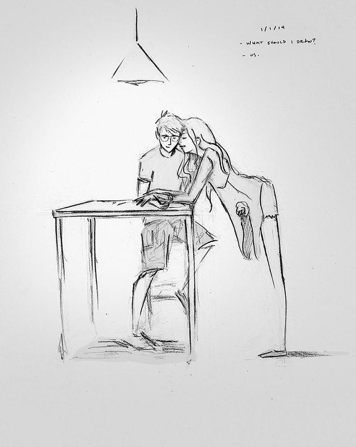 — Что мне нарисовать? — Нас!